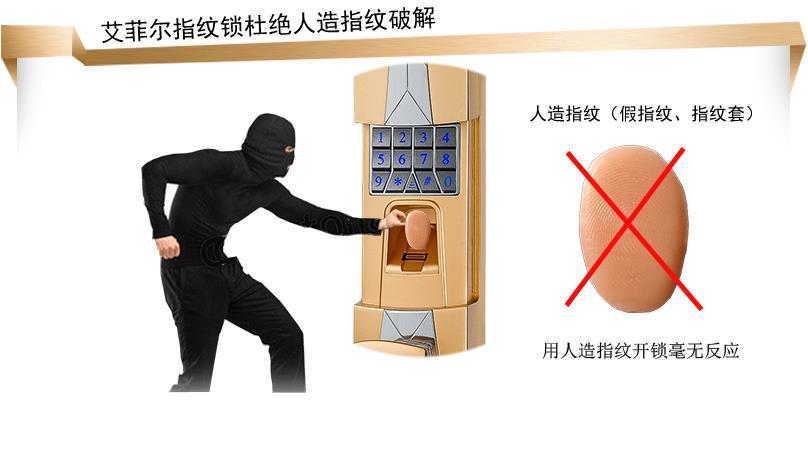 密码,指纹,钥匙开锁 选配 防止万能钥匙开启 指纹传感器 射频原理真皮